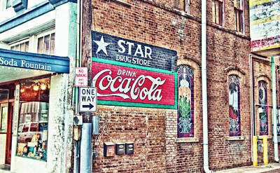 Drugstore Photograph - Star Drug Store Wall Sign - Hdr by Scott Pellegrin