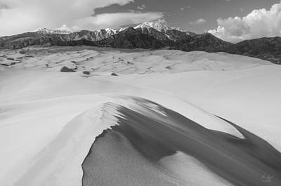 Black White Photograph - Star Dune by Aaron Spong