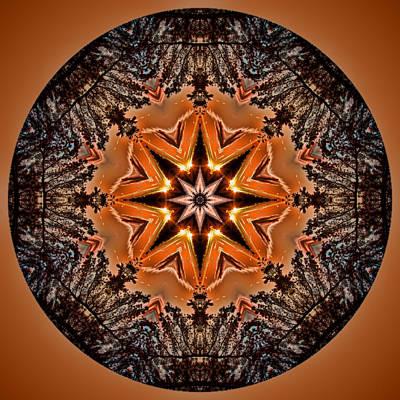 Photograph - Star Eclipse Mandala by Beth Sawickie