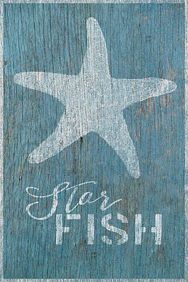 Shell Sign Painting - Star Fish by Cora Niele