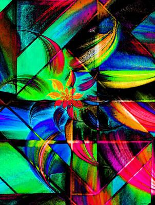 Star Flower Blaze Art Print