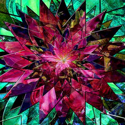 Digital Art - Star Gazer Lily Burst by Michele Avanti
