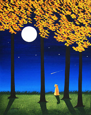 Wheaten Terrier Painting - Star Gazer by Todd Young
