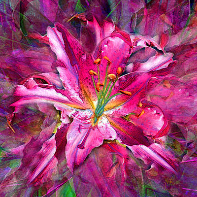 Mixed Media - Star Gazing Stargazer Lily by Michele Avanti