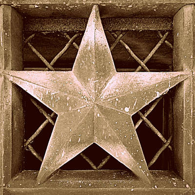 Photograph - Star In Sepia by Joseph Skompski