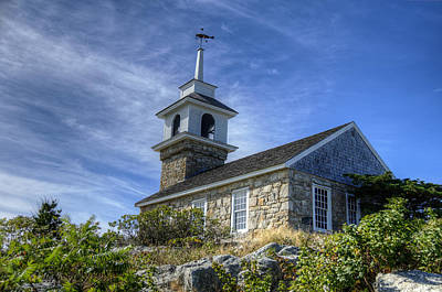 Village Photograph - Star Island Chapel by Donna Doherty