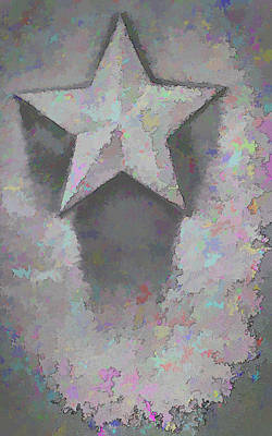 Concrete Photograph - Star by Kristi Swift