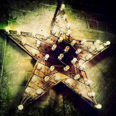 Star Light Grunge Art Print by Natasha Marco