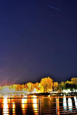 Night Photograph - Star Light...cool Night 02 by Michael Frank Jr