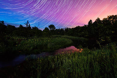 Photograph - Star Lines And Fireflies by Matt Molloy