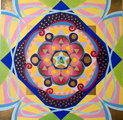 Metaphysical Painting - Star Mandala by Anne Cameron Cutri