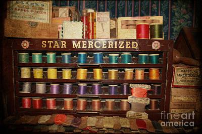 Star Mercerized Thread Display Art Print by Janice Rae Pariza