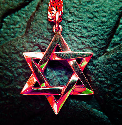 Photograph - Star Of David 4 by Laurie Tsemak