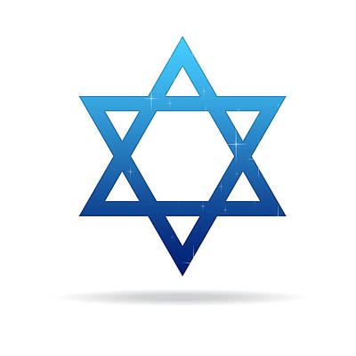 Judaic Drawing - Star Of David by Aged Pixel