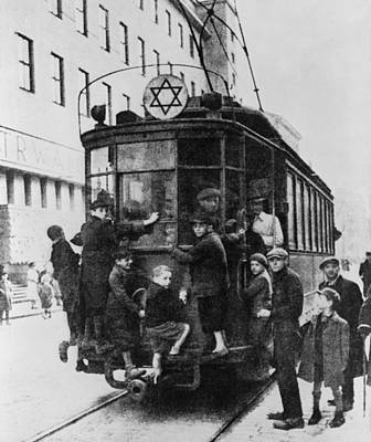 Star Of David Photograph - Star Of David Attached To A Street Car by Everett