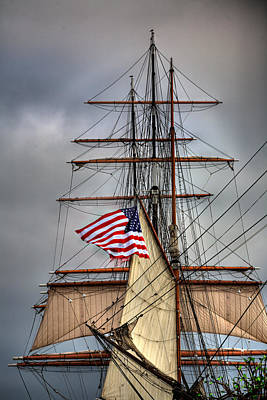 Tall Ship Photograph - Star Of India Stars And Stripes by Peter Tellone
