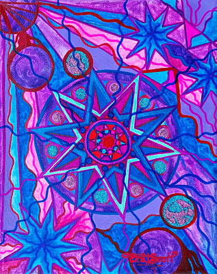 Healing Painting - Star Of Joy by Teal Eye  Print Store