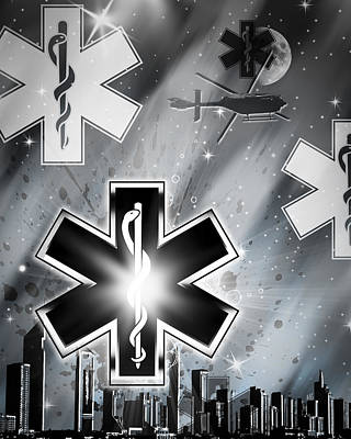 Star Of Life Night Art Print