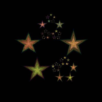 Lyrical Digital Art - Star Of Stars 02 by Sora Neva