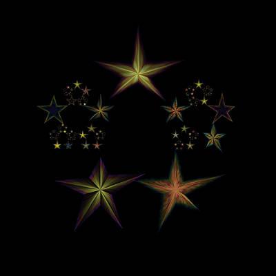 Lyrical Digital Art - Star Of Stars 03 by Sora Neva