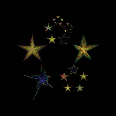 Lyrical Digital Art - Star Of Stars 05 by Sora Neva