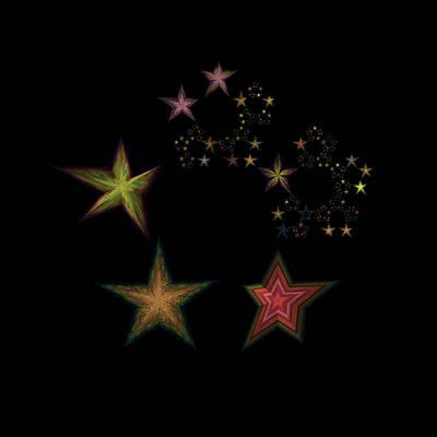Lyrical Digital Art - Star Of Stars 06 by Sora Neva