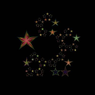 Lyrical Digital Art - Star Of Stars 11 by Sora Neva