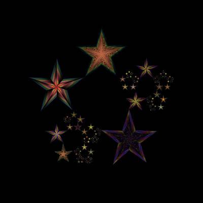 Lyrical Digital Art - Star Of Stars 19 by Sora Neva
