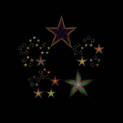 Lyrical Digital Art - Star Of Stars 20 by Sora Neva