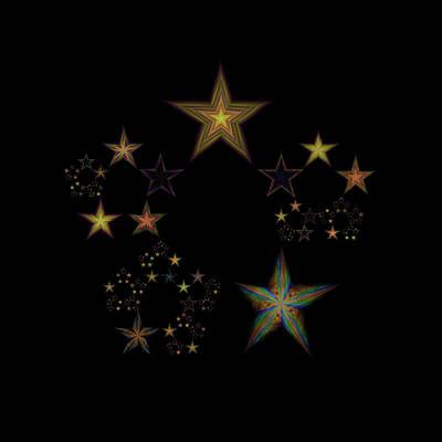 Lyrical Digital Art - Star Of Stars 23 by Sora Neva