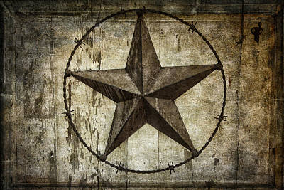 Weather Beaten Photograph - Star Of Texas by Daniel Hagerman