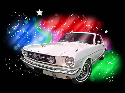 Photograph - Star Of The Show - 66 Mustang by Gill Billington