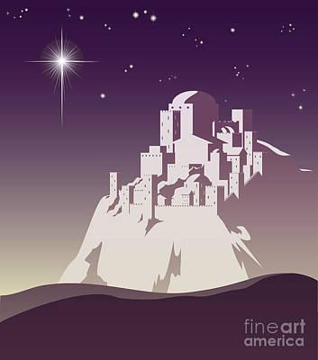 Manger Mixed Media - Star Over Bethlehem by Christos Georghiou