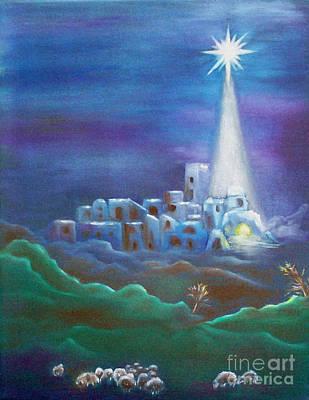 Star Over Bethlehem-holy Night Art Print by Melanie Palmer