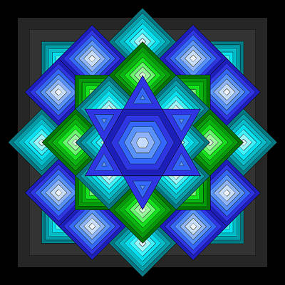 Digital Art - Star Quilt by Alison Stein