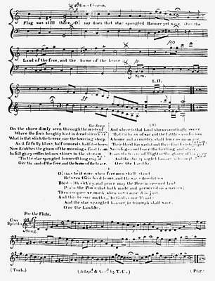 Old Sheet Music Painting - Star Spangled Banner by Granger