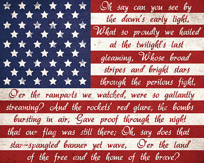 Star Spangled Banner Painting - Star Spangled Flag by Anna Quach