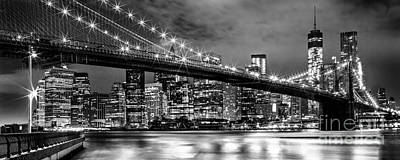 Brooklyn Bridge Photograph - Star Spangled Skyline 2 by Az Jackson