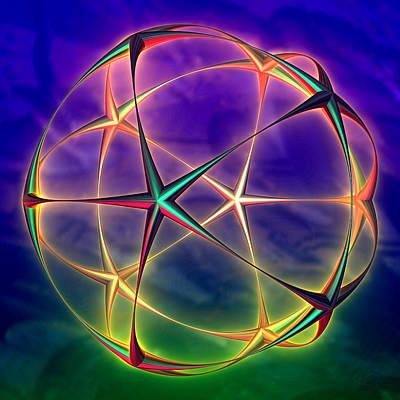 Digital Art - Star Sphere by Kiki Art