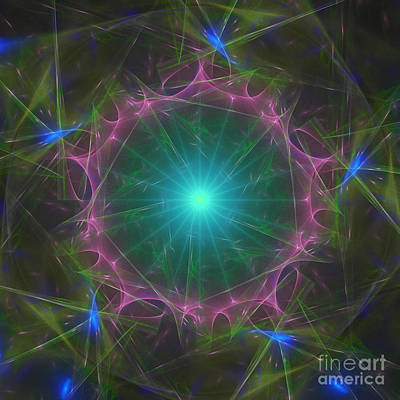 Digital Art - Star System 7 by Ursula Freer
