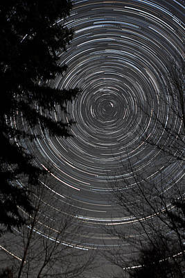 Photograph - Star Trails 6150 by Brent L Ander