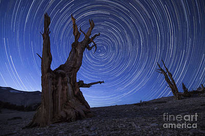 Star Trails Above An Ancient Art Print