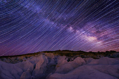 Photograph - Star Trails And The Milky Way by Photo By Matt Payne Of Durango, Colorado