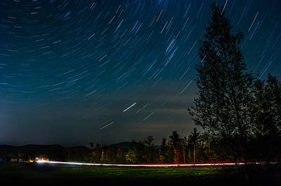 Photograph - Star Trails Car Trails by Jennifer Kano