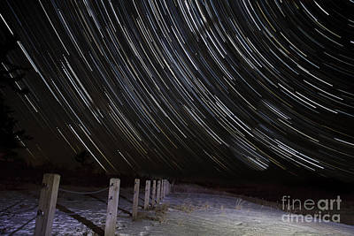 Star Trails In Glen Haven Art Print by Twenty Two North Photography