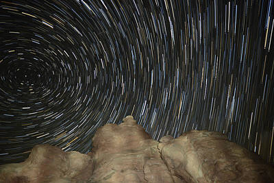 Star Trails Art Print by Jeff Lewis