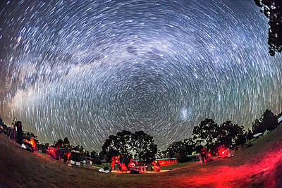 Star Trails Over The Ozsky Star Party Art Print by Alan Dyer