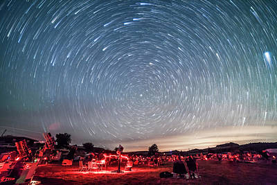 Star Trails Over The Texas Star Party Print by Alan Dyer