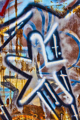 Urban Art Photograph - Star Train Graffiti by Carol Leigh
