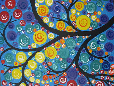 Living With Joy Painting - Star Tree by Cathy Jacobs